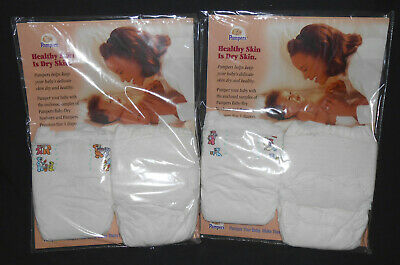 Vintage 1996 PAMPERS Sample Plastic Diapers Pregnancy Class Sealed Baby Scent