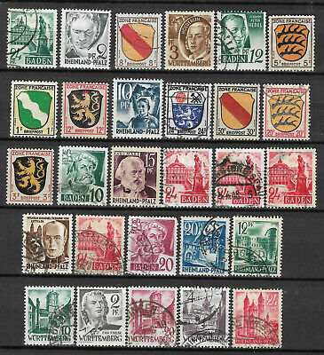GERMANY FRENCH ZONE STAMP COLLECTION PACKET of 50 DIFFERENT Stamps