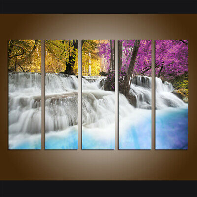 Landscape Waterfall Wall Art Picture Print Painting Canvas Living Room Home Deco