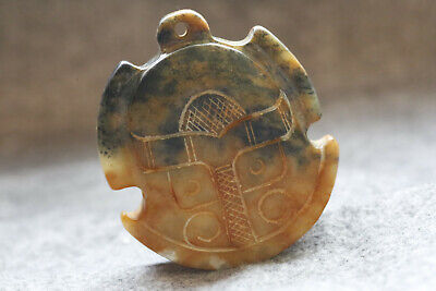 Ancient Chinese natural old jade hand-carved jade pendant A1