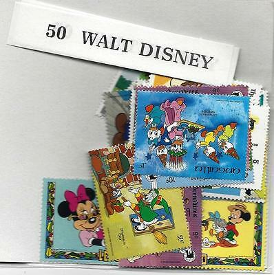50 Different stamps Walt Disney