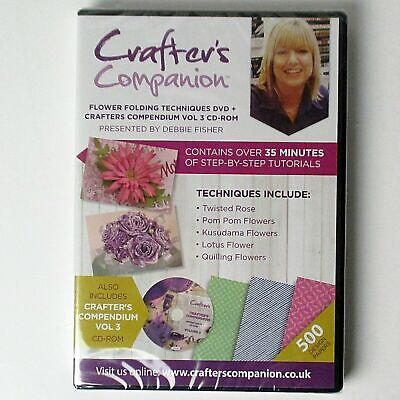 New - CD-Rom -Crafter's Companion - Flower Folding Techniques-Craftroom Clearout