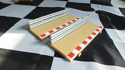 2 x  Scalextric Sport C8223 Half Straight Borders and Barriers Used