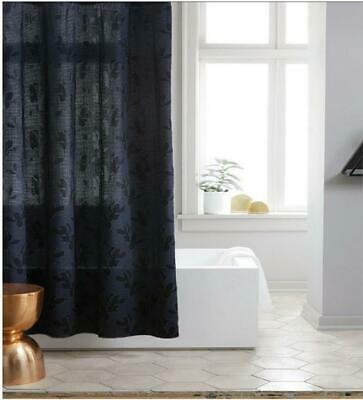 520d2aa507 PROJECT 62 TARGET Navy Leaf Woven Fabric Shower Curtain NWT - $11.29 ...