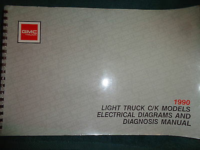 1990 gmc truck shop manual wiring diagrams 1500-3500 pickup electrical book