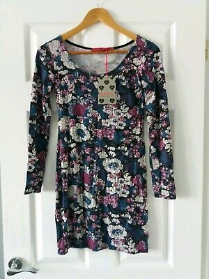 406f111f04b BOOHOO PETITE BOUTIQUE Embroidered Wide Sleeve Swing Dress 8 Uk BNWT ...