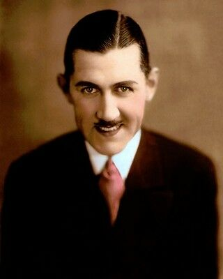"""CHARLEY CHASE ACTOR COMEDIAN SCREENWRITER 8x10"""" HAND COLOR TINTED PHOTOGRAPH"""