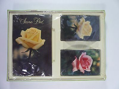 Hallmark Roses Playing Cards Double Deck Bridge Gift Set New Sealed