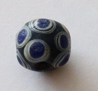 RARE ANCIENT SCYTHIANS DECORATED GLASS BEAD 2th-3th century