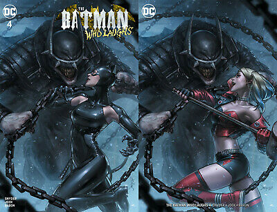 Batman Who Laughs 4 DC Jeehyung Lee Catwoman Harley Quinn Trade Virgin 2 Variant