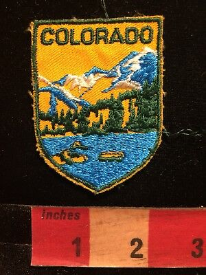 Vtg Colorado Patch Featuring Beautiful Snow Capped Rocky Mountain Scenery 85TT