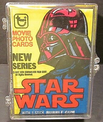 1977 TOPPS Star Wars 2nd Series FULL Set 66 Trading Cards 11 Stickers 1 Wrapper