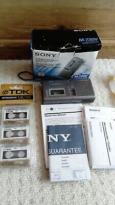 SONY M-425 MICROCASSETTE Voice Recorder Evp Dictaphone