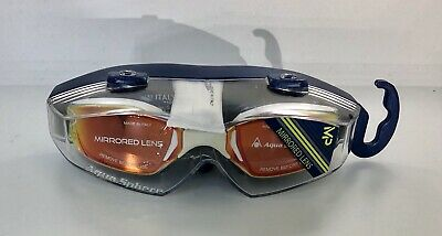 AQUA SPHERE Mirrored Lens Swimming Outdoors Goggles Brand New Made in Italy