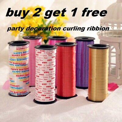 Balloon Curling Ribbon 30 Metres BUY 1 ROLL GET 1 FREE 5mm Xmas Party Wrapping