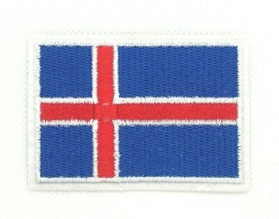 Republic of Iceland Icelander Icelandic National Flag Sew iron on Patch 276