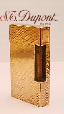 ST DuPont Lighter's Parts Line 2 Gold Body Only Good Condition A10