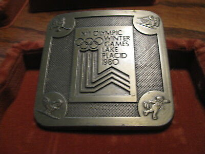 1980 XIII Olympic Winter Games Lake Placid Belt Buckle     Lot #PM B