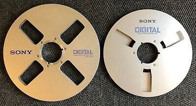 """Sony 12.5"""" & 14"""" Professional Reels for 1/4"""" Digital Audio Master Tape Lot 2"""