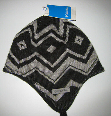 cfb036a80 COLUMBIA YOUTH WINTER Worn Black Peruvian Winter Hat One Size New NWT