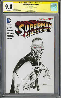 Superman Unchained 2015 DC Bizarro Original Sketch Art & Signed Jae Lee CGC 9.8