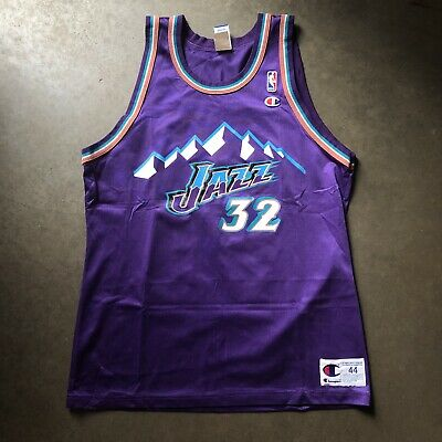 new arrivals aa356 2751d VINTAGE 90'S CHAMPION Utah Jazz Karl Malone NBA Jersey Size ...