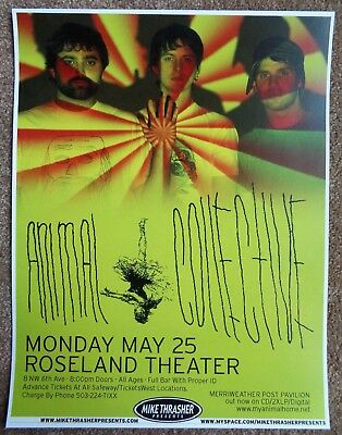 ANIMAL COLLECTIVE 2009 Gig POSTER Portland Oregon Concert