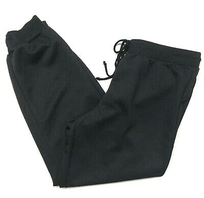 NWT Deb Size XL Jogger Pants Black Quilted Sweatpants Pull On Elastic Waist