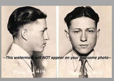 1930 Clyde Barrow Mug Shot PHOTO Gangster Bonnie and Clyde Gang Prohibition Era