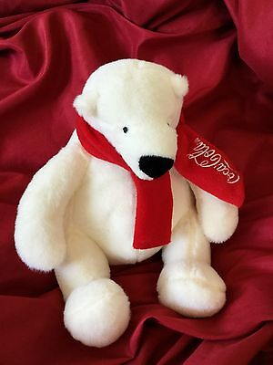 "2014 Coca Cola Bear plush 8"" CLEAN AND SOFT! B55"