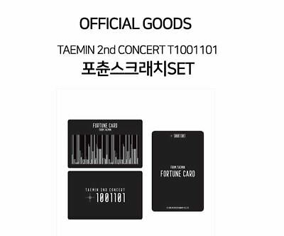 TAEMIN 2nd CONCERT T1001101 OFFICIAL GOODS FORTUNE SCRATCH SET + PHOTOCARD