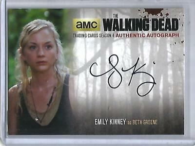 Emily Kinney 2016 The Walking Dead Season 4 Autograph