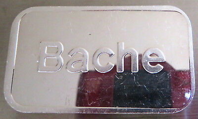 1981 Bache Art Bar Pioneer Mint Pm-11 .999 Fine Silver 1 Troy Oz Vintage