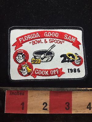 Vtg 1986 Florida Bowl & Spoon Good Sam Patch - Cook Off 76X2