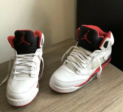 "info for 33580 fbbb6 Nike Air Jordan 5 Retro Low GS ""Fire Red"" Black Tongue 2016 Size 7y"