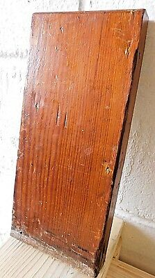 1910 Wooden Antique BASE Cover TRIM Plinth Block DOOR Molding Craftsman Style
