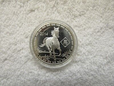 2014 1oz .999 Fine Silver Year of the Horse,  Zodiac Silver Round