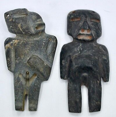 Pre-Columbian Mexican Mezcala Male and Female Stone Figures