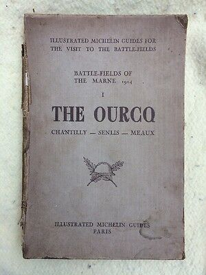 1917 The Ourcq Battlefields Of The Marne 1914 Guide Maps Photos Michelin War
