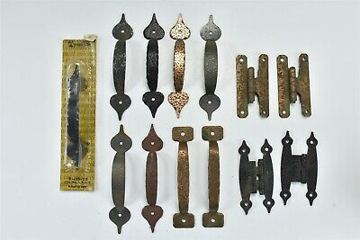 Vintage MIXED LOT of 13 HAMMERED METAL HARDWARE COPPER PLATING & PAINTED #06972