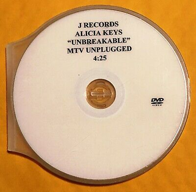 Alicia Keys-Unbreakable (Mtv Unplugged)/2005 J Records Dvd Promo R&b Music Video