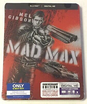 MAD MAX (Blu-Ray, 2015) STEELBOOK Edition, Mel Gibson -Brand New *Free Shipping*