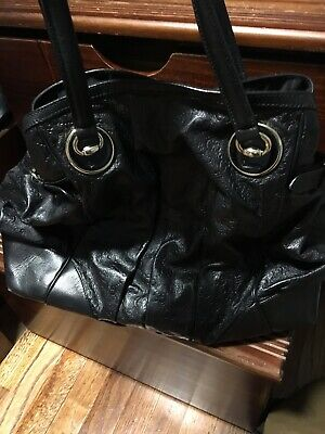 9f92e34f09605 Authentic Gucci Guccissima Leather Full Moon GG Tote Handbag Purse Pre-Owned
