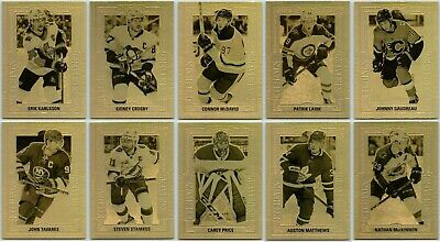 2018-19 UD TIM HORTONS GOLD ETCHINGS COMPLETE 10 CARD INSERT SET LOT Mcdavid Bv