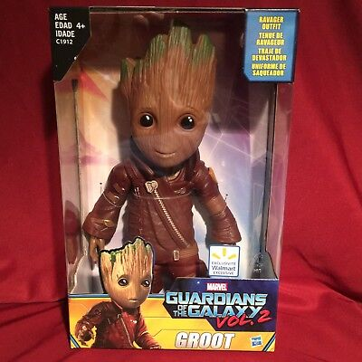 """Marvel Guardians of the Galaxy Vol. 2 WALMART EXCLUSIVE 10"""" RAVAGER OUTFIT GROOT"""