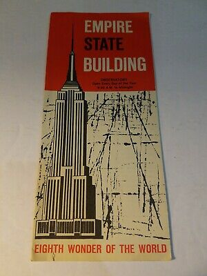 VINTAGE 1960s EMPIRE STATE BUILDING Eighth Wonder OF THE WORLD  BROCHURE EXCELLE