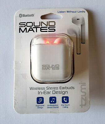 TZUMI 5761 W-2 Sound Mates Bluetooth Earbuds with Protective