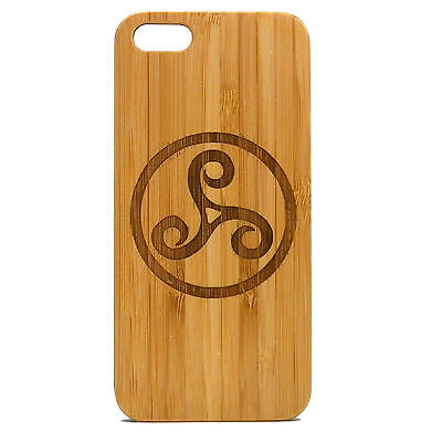 Triskele BAMBOO Case made for iPhone SE&5/5S phones with Durable Wood Cover