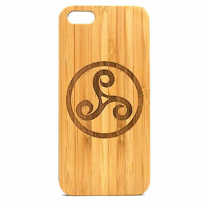 Triskele Symbol Case made for iPhone 7 Plus phone Eco-Friendly Bamboo Wood Cover