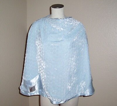 Little Giraffe Velvet Satin Blue Nursing Shield Cover Up Blanket Breastfeeding